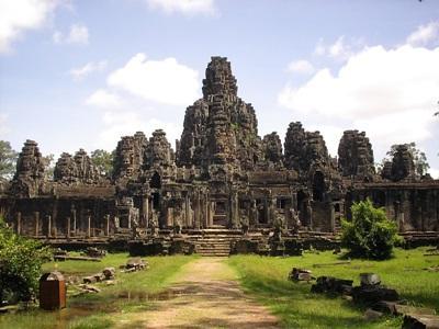 カンボジア観光地のアンコールワット