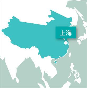 中国、上海と生徒のプロジェクトアブロード活動地マップ