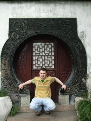 中国、地域の建物を訪れるプロジェクトアブロードボランティア