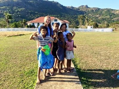フィジー村落開発プロジェクトのボランティア