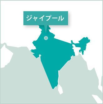プロジェクトアブロード、北インドの活動地マップ