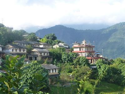 ネパールの山岳の村