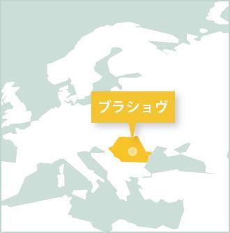 ルーマニア、ボランティア活動地ブラショフのマップ