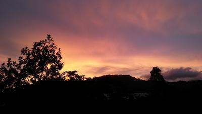 サモアの夕陽