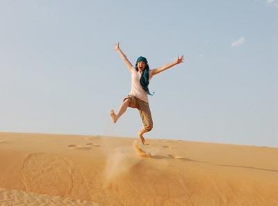 セネガル、砂漠を歩くプロジェクトアブロードボランティア