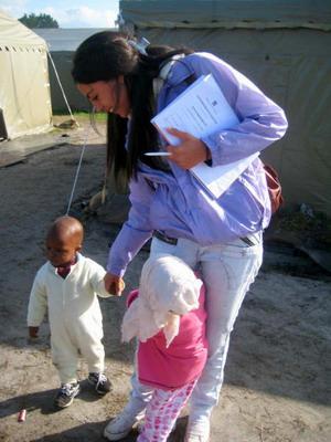 南アフリカ、ケープタウン、子供達と女性プロジェクトアブロードボランティア