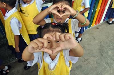 タイ、ケアプロジェクトのケアセンターの子どもたち