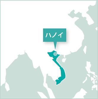 ベトナム、ハノイのボランティアマップ