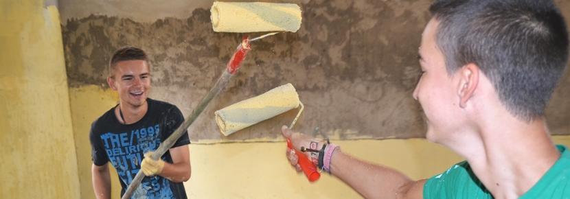 アフリカで建築活動の海外ボランティア