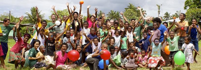 南太平洋で子供のケアの海外ボランティア