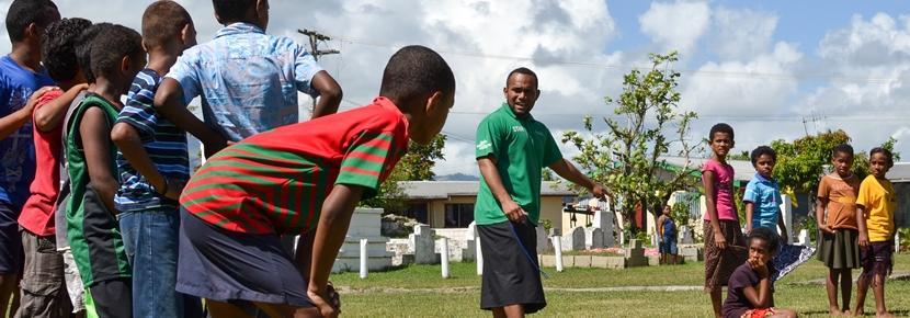 南太平洋でスポーツを教える海外ボランティア