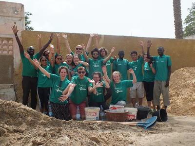 西アフリカのセネガルで海外ボランティア 高校生ボランティアたち