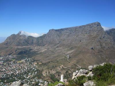 南アフリカで冬休みの海外ボランティア ケープタウンの象徴テーブルマウンテン