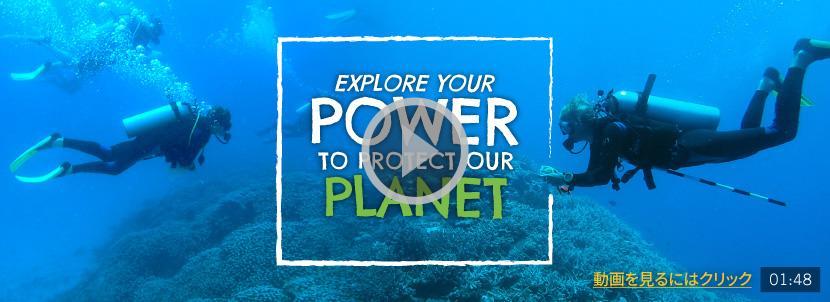 環境保護プロジェクトで海洋調査に携わるボランティア