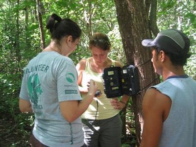 コスタリカ、環境保護プロジェクト、調査中ボランティア