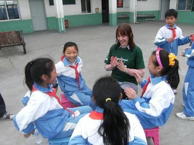 中国、ケア&コミュニティープロジェクト、高校生ボランティア