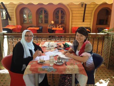 モロッコでアラビア語留学をする日本人ボランティア
