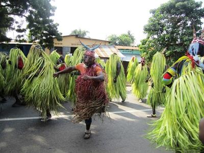 Local people during a festival in Togo