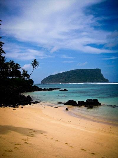 サモアのビーチと自然