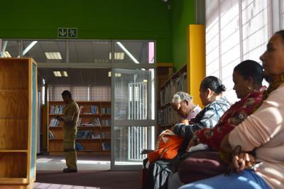 南アフリカで人権擁護の海外インターンシップ 無料法律相談所の様子