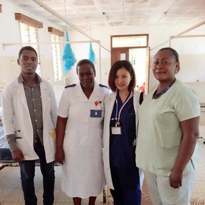 タンザニアで医療インターンシップ 日本人インターンの活動の様子