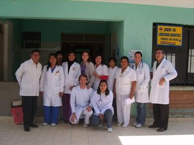 Professional volunteer team on medical project in Bolivia