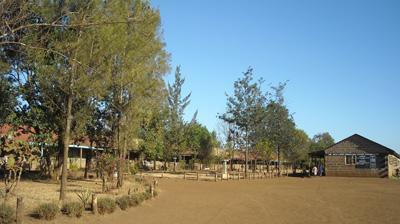 A hospital in a rural community in Kenya