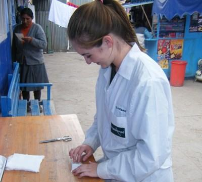 Professional midwife volunteering in the sacred valley of Peru