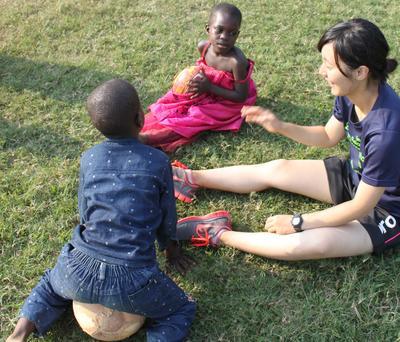 ガーナの地域コミュニティで子供たちにスポーツを通して健やかな発育に貢献する海外ボランティア活動