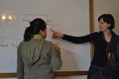 ボリビア、大学で授業を率いるプロジェクトアブロードボランティア