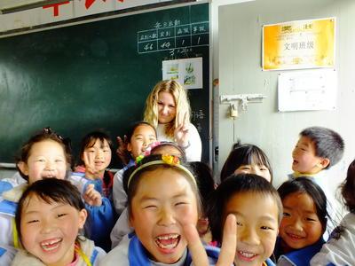 中国で英語教育に貢献する海外ボランティア