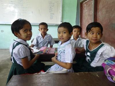 教育ボランティア 修道院学校で学ぶミャンマーの子供たち