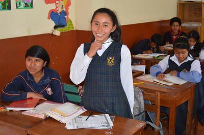 ペルーで英語を教える海外ボランティア 現地の生徒たち