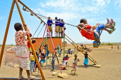 タンザニアでチャイルドケアの海外ボランティア 元気いっぱいのマサイの子供たち